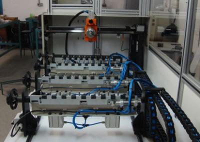 Bancada para testes de estanqueidade e obstrução em tubulações de combustível_a