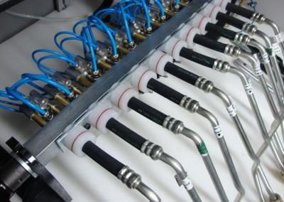 Bancada para testes de estanqueidade e obstrução em tubulações de combustível_f
